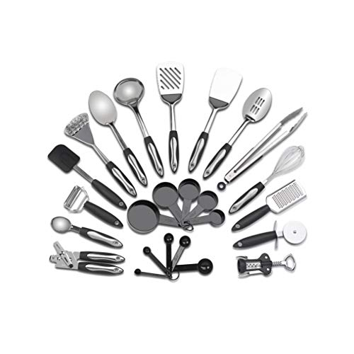 478cf9a4a Stainless Steel Kitchen Utensil Set – 25 Cooking Utensils – Utensils ...